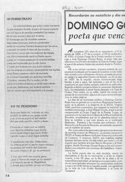 Domingo Gómez Rojas Poeta Que Venció Al Olvido Artículo