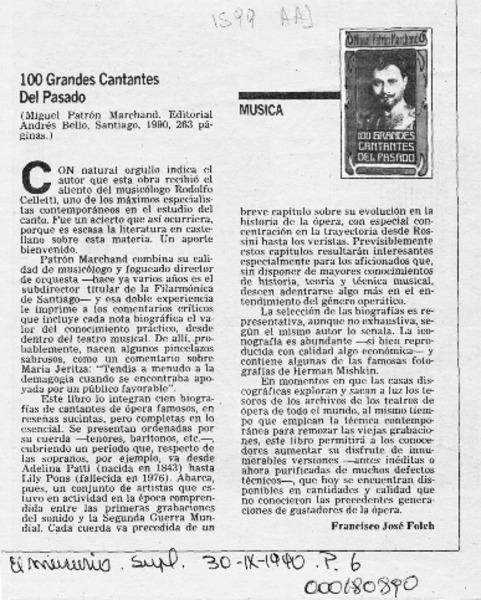 6b570a960 100 Grandes cantantes del pasado  artículo  Francisco José Folch.