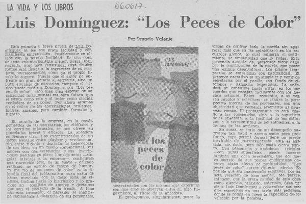 Luis Domínguez: \