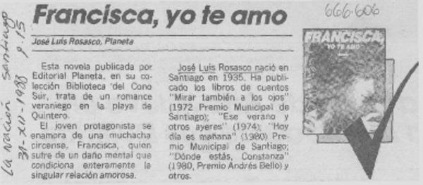 Francisca, yo te amo. [artículo] - Biblioteca Nacional
