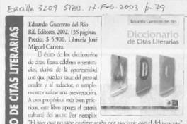Diccionario De Citas Literarias Artículo Floridor Pérez