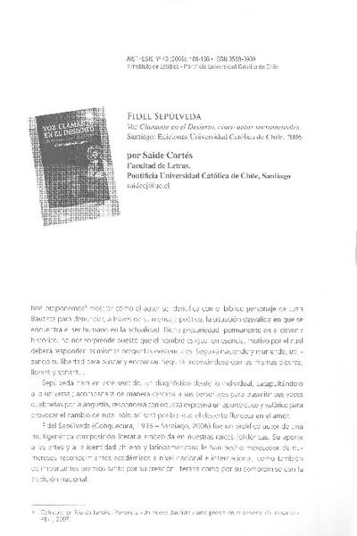 aisthesis revista chilena Get this from a library aisthesis : revista chilena de investigaciones estéticas [universidad católica de chile facultad de filosofía y ciencias de la educación.