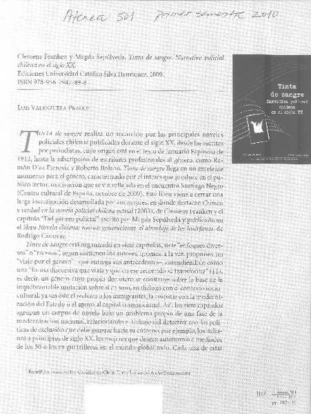 Tinta de sangre [artículo] Luis Valenzuela Prado