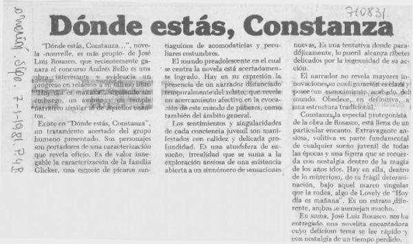 Dónde estás, Constanza. [artículo] - Biblioteca Nacional ... - photo#32