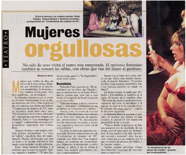 Mujeres Orgullosas Articulo Marietta Santi Biblioteca Nacional
