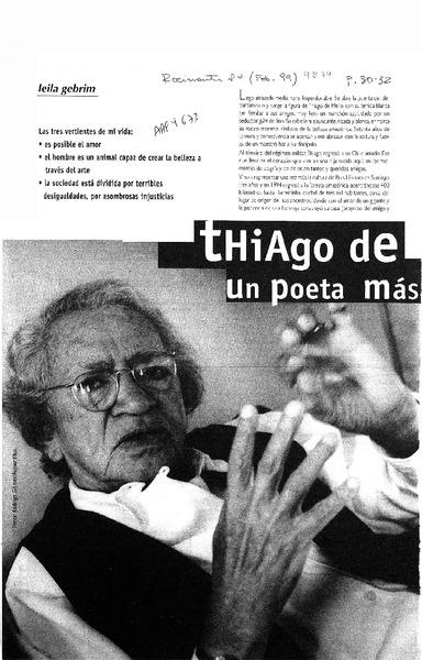 Thiago De Mello Un Poeta Más Que Humano Artículo Leila