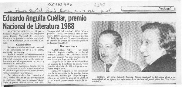 Eduardo anguita cu llar premio nacional de literatura - Registro propiedad cuellar ...