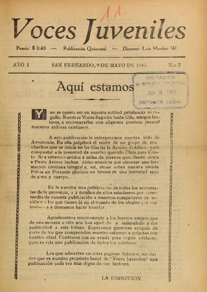 Voces Juveniles Biblioteca Nacional Digital De Chile
