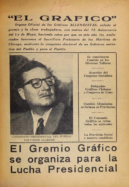 El Gráfico. Organo Oficial del Comando Gráfico Candidatura ...