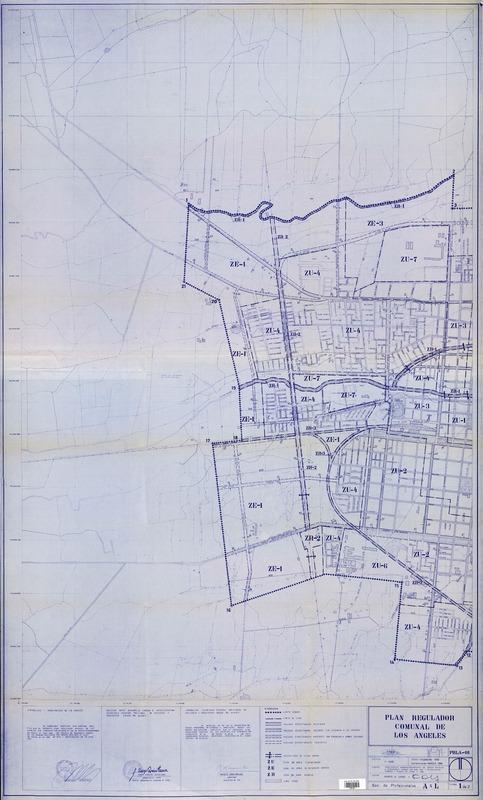 Plan regulador comunal de Los Angeles [material cartográfico] Marco ...