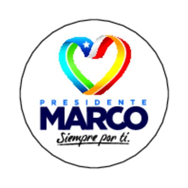 Cuatro chapitas de la campaña presidencial de Marco Enríquez-Ominami ...
